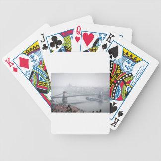 Budapest bridge over danube river picture poker deck