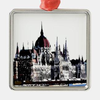 Budapest castle metal ornament