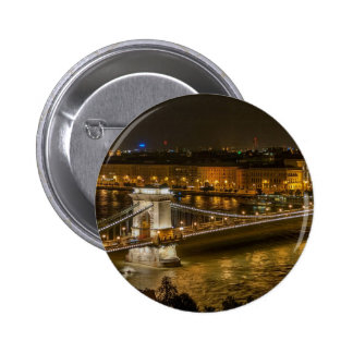 Budapest Chain Bridge 6 Cm Round Badge