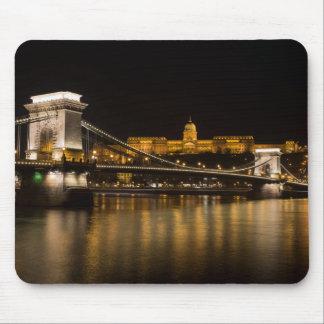 Budapest Chain Bridge And Castle Mouse Pad