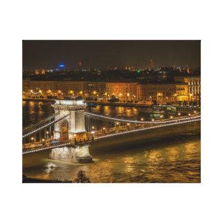 Budapest Chain bridge Canvas Print