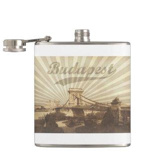Budapest Chain Bridge Vintage Hip Flask