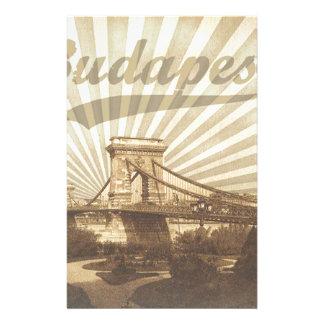 Budapest Chain Bridge Vintage Stationery