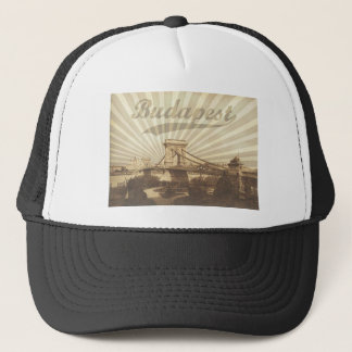 Budapest Chain Bridge Vintage Trucker Hat
