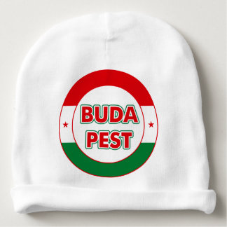 Budapest, circle, color baby beanie
