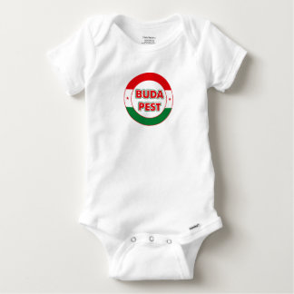 Budapest, circle, color baby onesie