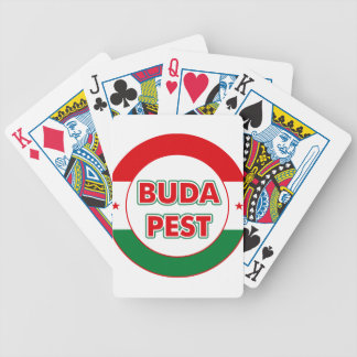 Budapest, circle, color bicycle playing cards