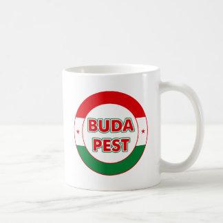 Budapest, circle, color coffee mug