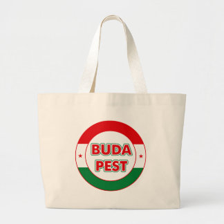 Budapest, circle, color large tote bag