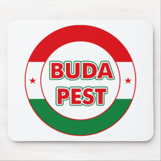Budapest, circle, color mouse pad
