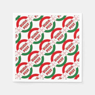 Budapest, circle, color paper napkin