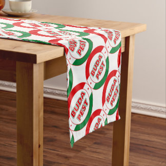 Budapest, circle, color short table runner