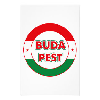Budapest, circle, color stationery