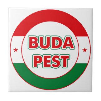 Budapest, circle, color tile