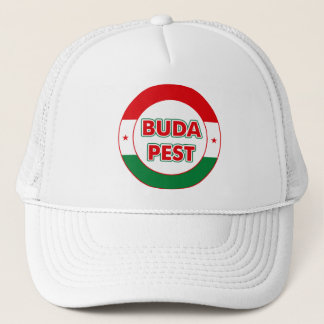 Budapest, circle, color trucker hat