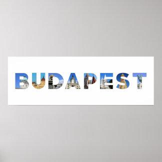 budapest city hungary landmark inside name text poster