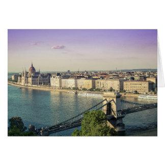 Budapest cityscape card