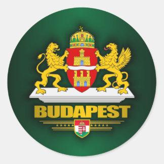 Budapest Classic Round Sticker