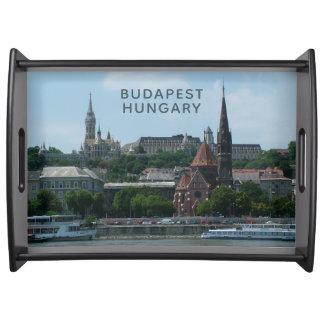 Budapest custom text serving tray 2