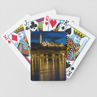 Budapest Danube River Reflection Water At Night PH Bicycle Playing Cards