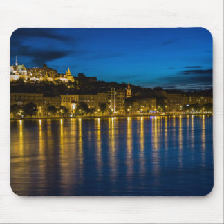Budapest Danube River Reflection Water At Night PH Mouse Pad