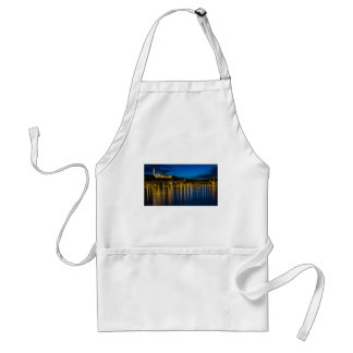 Budapest Danube River Reflection Water At Night PH Standard Apron