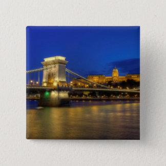 Budapest, Hungary 15 Cm Square Badge