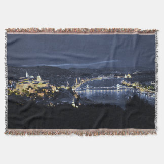 Budapest, Hungary At Night Throw Blanket