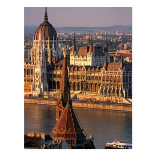 Budapest, Hungary, Danube River, Parliament Postcard