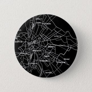 Budapest Hungary map 6 Cm Round Badge