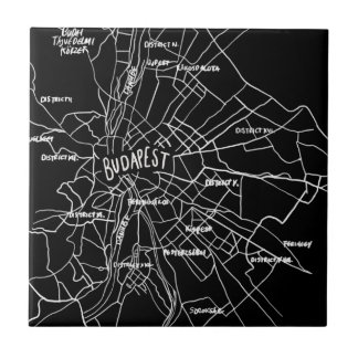 Budapest Hungary map Small Square Tile