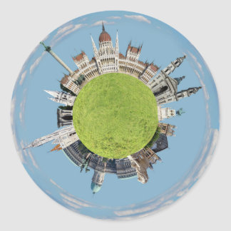 budapest little tiny planet travel tourism hungary classic round sticker