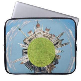 budapest little tiny planet travel tourism hungary laptop sleeve