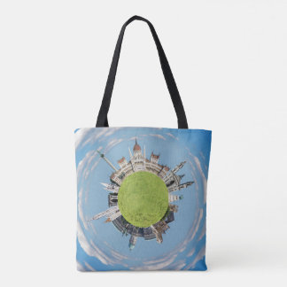 budapest little tiny planet travel tourism hungary tote bag