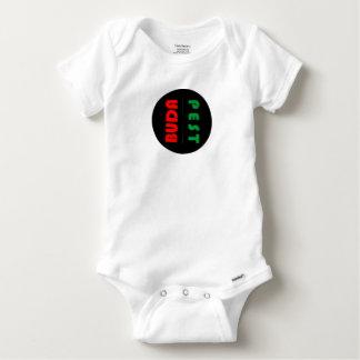 Budapest minimalist - circle - 01 baby onesie