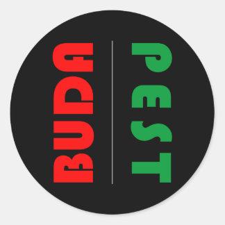 Budapest minimalist - circle - 01 classic round sticker