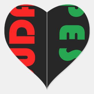 Budapest minimalist - circle - 01 heart sticker
