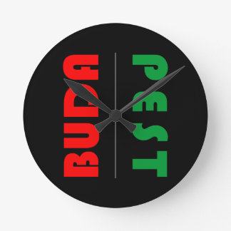 Budapest minimalist - circle - 01 round clock