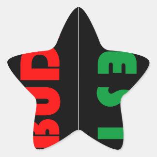Budapest minimalist - circle - 01 star sticker