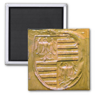 budapest museum hungary ceramic tile seal history square magnet