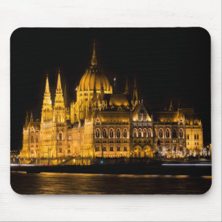 Budapest Parliament At Night Mouse Pad