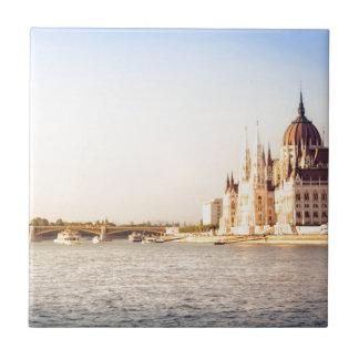 Budapest parliament tile