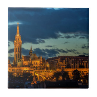 Budapest Picture Small Square Tile