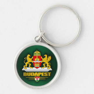 Budapest Silver-Colored Round Key Ring