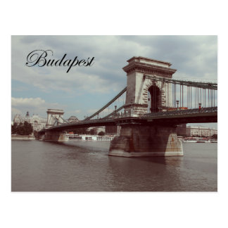 Budapest Széchenyi Chain Bridge Vintage Postcard. Postcard