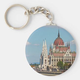 Budapest, the building of the Parliament Basic Round Button Key Ring