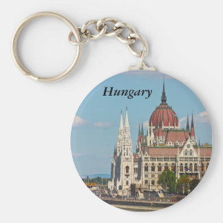 Budapest, the building of the Parliament, Hungary Basic Round Button Key Ring