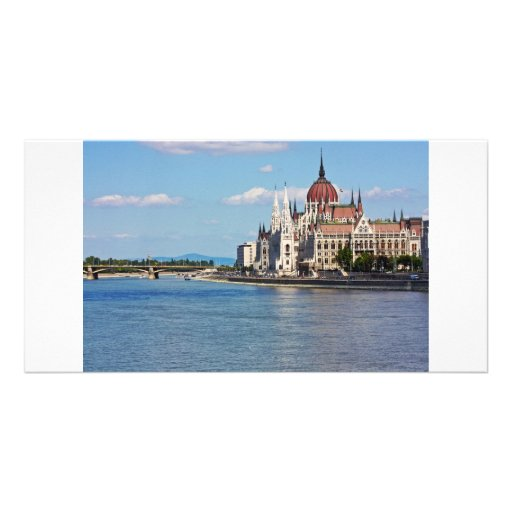 Budapest, the building of the Parliament Customized Photo Card