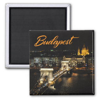 Budapest, The Chain Bridge from The Buda Castle Magnet