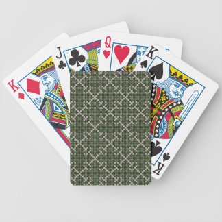 Budded Cross Patterned Bicycle Playing Cards